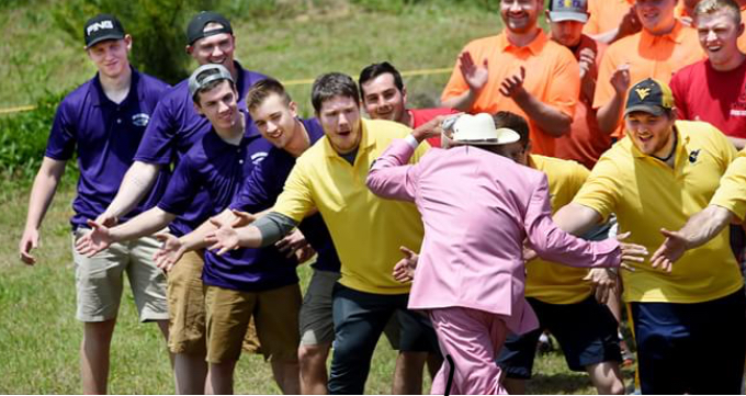 Collegiate Disc Golf Championships opening ceremony