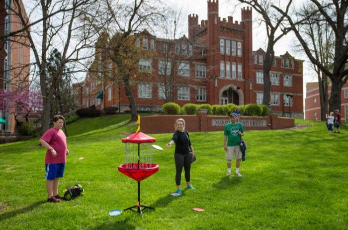MU hosts first urban disc golf tournament on campus